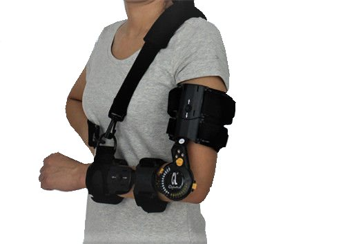 Black Single Move Telescoping Elbow Brace For Medial Epicondylitis Brace